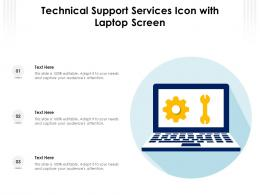Technical Support Services Icon With Laptop Screen