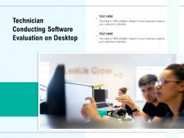 Technician Conducting Software Evaluation On Desktop