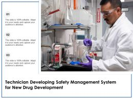 Technician Developing Safety Management System For New Drug Development