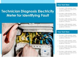 Technician Diagnosing Electricity Meter For Identifying Fault