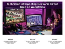 Technician Introspecting Electronic Circuit Issue On Workstation