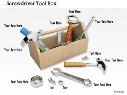 Technician Kit With Tools Hammer Spanner And Screwdriver