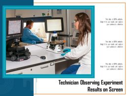 Technician Observing Experiment Results On Screen