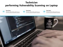 Technician Performing Vulnerability Scanning On Laptop