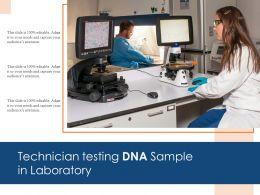 Technician Testing DNA Sample In Laboratory