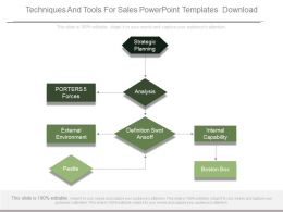 Techniques And Tools For Sales Powerpoint Templates Download