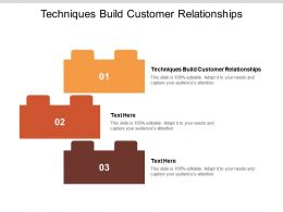 Techniques Build Customer Relationships Ppt Powerpoint Presentation Samples Cpb