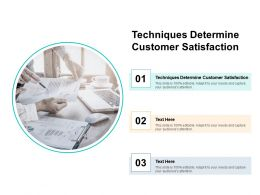 Techniques Determine Customer Satisfaction Ppt Powerpoint Presentation Professional Skills Cpb
