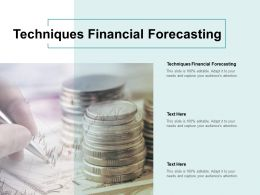 Techniques Financial Forecasting Ppt Powerpoint Presentation Inspiration Shapes Cpb