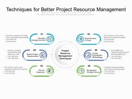 Techniques For Better Project Resource Management