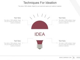 Techniques For Ideation Powerpoint Slide Themes