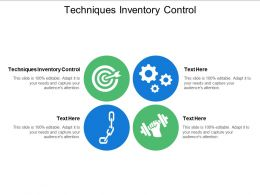 Techniques Inventory Control Ppt Powerpoint Presentation File Microsoft Cpb