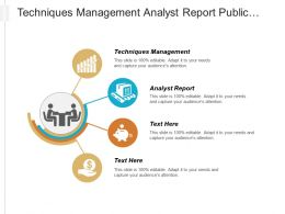 Techniques Management Analyst Report Public Relations Business Business Cpb
