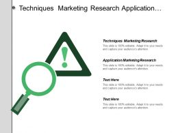 Techniques Marketing Research Application Marketing Research Strategic Decisions