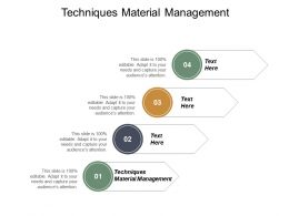 Techniques Material Management Ppt Powerpoint Presentation Portfolio Good Cpb