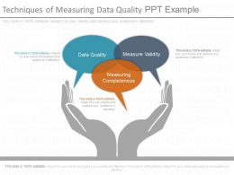 Techniques Of Measuring Data Quality Ppt Example