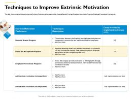 Techniques To Improve Extrinsic Motivation Seniority Based Ppt Powerpoint Presentation Outline Designs