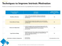 Techniques To Improve Intrinsic Motivation Move Forward Ppt Powerpoint Presentation Infographics Samples