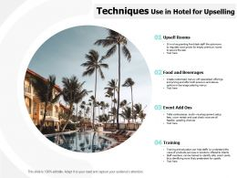 Techniques Use In Hotel For Upselling