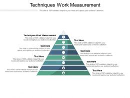 Techniques Work Measurement Ppt Powerpoint Presentation Styles Brochure Cpb