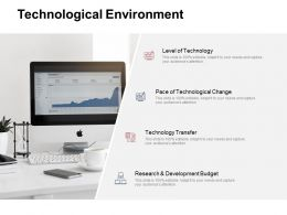 Technological Environment Development Budget Ppt Powerpoint Presentation Outline Graphics