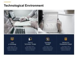 Technological Environment Ppt Powerpoint Presentation Infographic