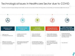 Technological Issues In Healthcare Sector Due To Covid Services Ppt Brochure