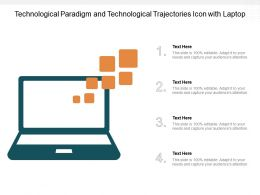 Technological Paradigm And Technological Trajectories Icon With Laptop