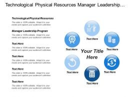 Technological Physical Resources Manager Leadership Program Resources Management