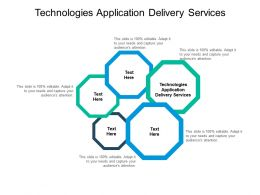 Technologies Application Delivery Services Ppt Powerpoint Presentation Infographics Cpb