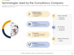 Technologies Used By The Consultancy Company Identifying New Business Process Company