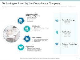 Technologies Used By The Consultancy Company Transformation Of The Old Business