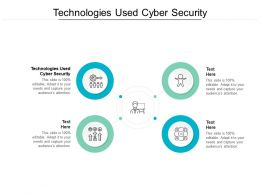 Technologies Used Cyber Security Ppt Powerpoint Presentation Professional Skills Cpb