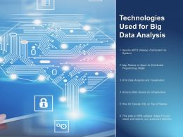 Technologies Used For Big Data Analysis