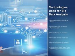 Technologies Used For Big Data Analysis