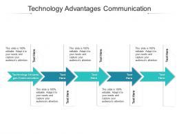 Technology Advantages Communication Ppt Powerpoint Presentation Layouts Cpb