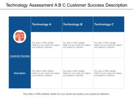 Technology Assessment A B C Customer Success Description