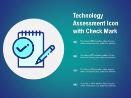 Technology Assessment Icon With Check Mark