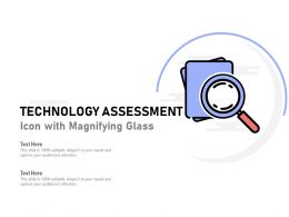 Technology Assessment Icon With Magnifying Glass
