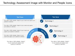 Technology Assessment Image With Monitor And People Icons