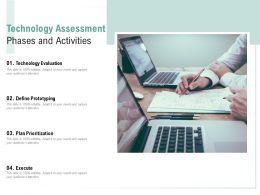 Technology Assessment Phases And Activities
