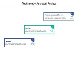 Technology Assisted Review Ppt Powerpoint Presentation Inspiration Icons Cpb