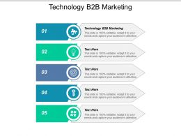 Technology B2b Marketing Ppt Powerpoint Presentation Slides Example Introduction Cpb