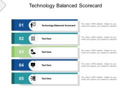 Technology Balanced Scorecard Ppt Powerpoint Presentation Pictures Demonstration Cpb