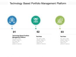 Technology Based Portfolio Management Platform Ppt Powerpoint Presentation Inspiration Outfit Cpb