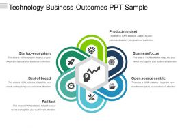Technology Business Outcomes Ppt Sample