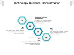 Technology Business Transformation Ppt Powerpoint Presentation Portfolio Mockup Cpb