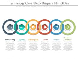 Technology Case Study Diagram Ppt Slides