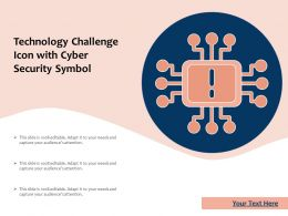 Technology Challenge Icon With Cyber Security Symbol