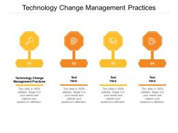 Technology Change Management Practices Ppt Powerpoint Presentation Slides Format Ideas Cpb